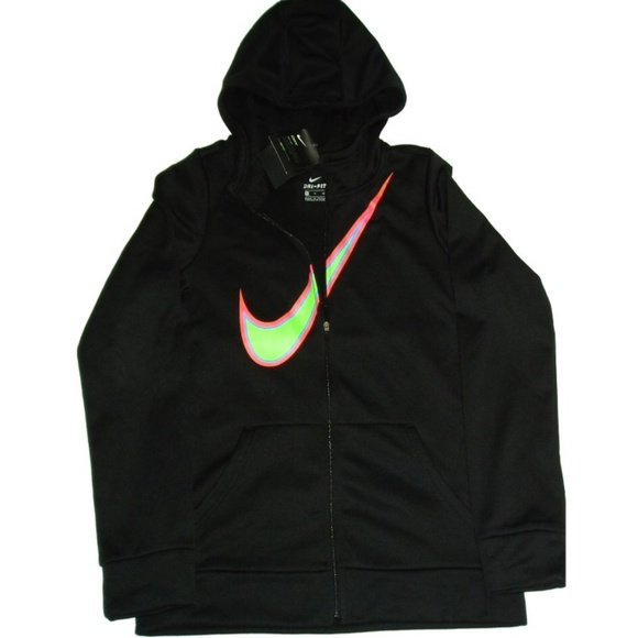 d7bc962424 Nike Shirts & Tops | Hoodie Youth Girls Zip Up Front Coat Spot ...